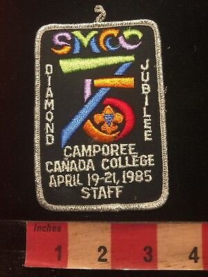 Vtg 1985 STAFF CANADA COLLEGE CAMPOREE SMCC BSA Boy Scouts Patch S86J
