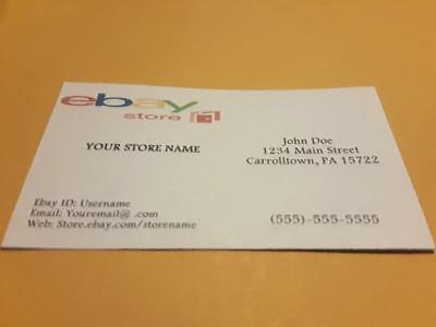 Custom ebay Full Color Business Cards 1,000 Cards Free Shipping