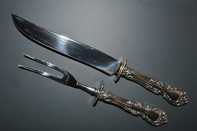 """Gorham Melrose Sterling Silver Two-Piece Carving Set - 10 1/2"""" - No Mono"""