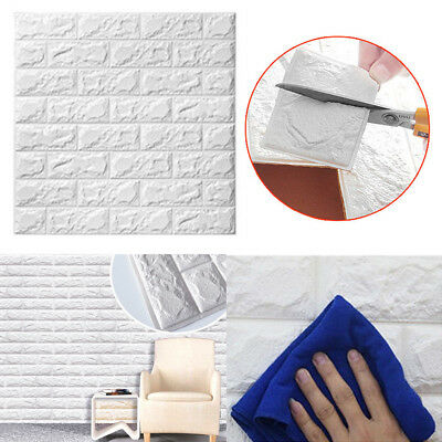 3D Brick Panels Wall Stickers SOFT PE Foam Self Adhesive DIY Home Decal Decor