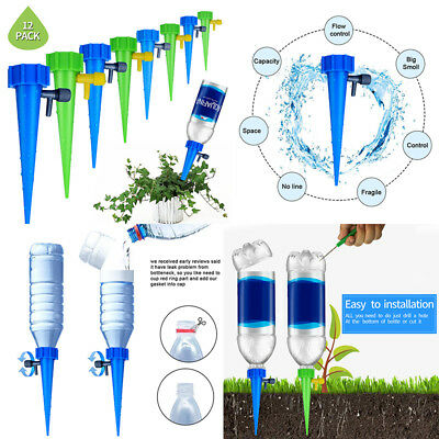 12 pcs Watering System Tender Automatic Drip Water Spike Houseplant Plant Indoor