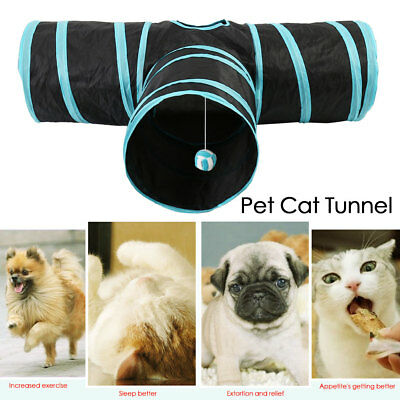 Pliable PET chat jouets chaton tunnel jouet lapin animal tube tunnels 3 Way pop
