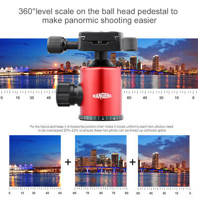 """Rangers Photography Tripod Ballhead with 1/4"""" Quick Release Plate for DSLR RA097"""