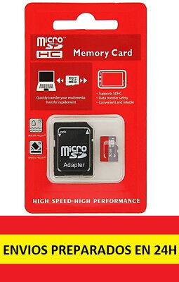 Tarjeta micro SD 32GB con adaptador clase 10 HIGH SPEED