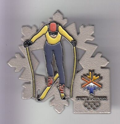 Rare Pins Pin's .. Olympique Olympic Salt Lake City Ski Nordique Skiing 3D ~18