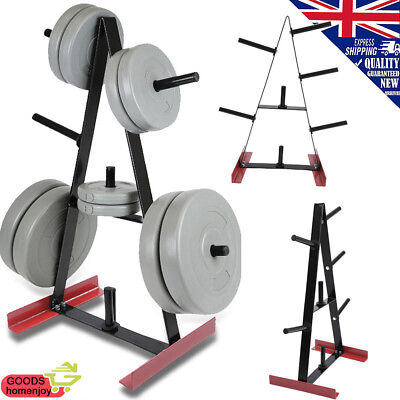 7 POST 100kg Gym Weight Plate & Bar Rack Storage Stand/Holder Dumbbell/Barbell