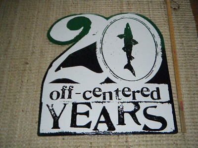 """Rare Dogfish Head Beer 20 Years Off Centered Metal Sign Huge 29+"""" X 31"""" Classic"""