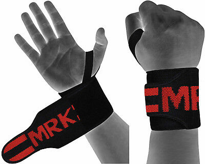 MRK Weight Lifting Straps Wrist Wraps RDX Training Gym Gloves Hand Bar Support