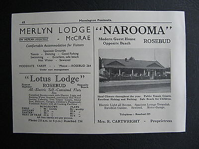Narooma Guest House Rosebud R Cartwight Prop. Vintage 1951 Advertising