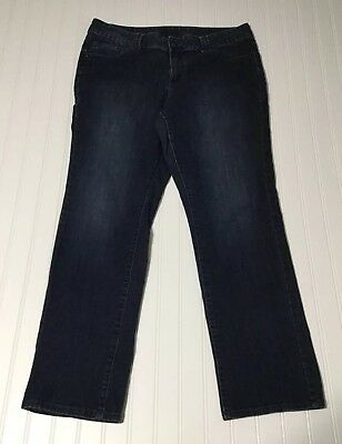 LANE BRYANT Womens Sz 18 Average Straight Leg Stretch Mid Rise Denim Blue Jeans