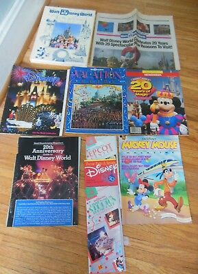 Walt Disney World 20th Anniversary  Articles, Book, Park Guides, bag and magnet