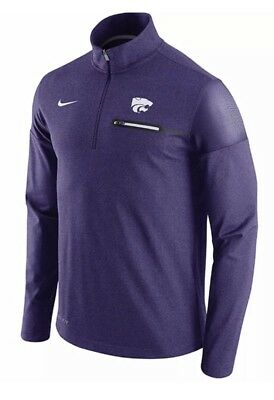 los angeles 6949e 0e5b6 Nike Men s Kansas State Wildcats Coaches Half Zip Jacket 2Xl Xxl Nwt Msrp   80