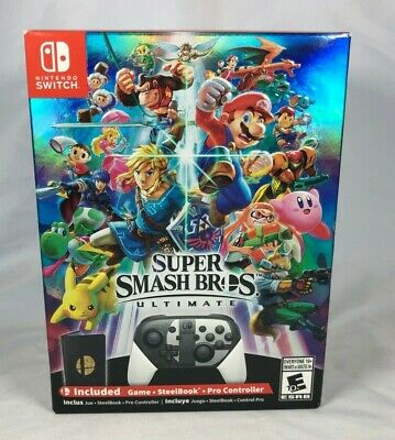 Nintendo Switch Super Smash Bros Ultimate Limited Edition With Special Coin NEW