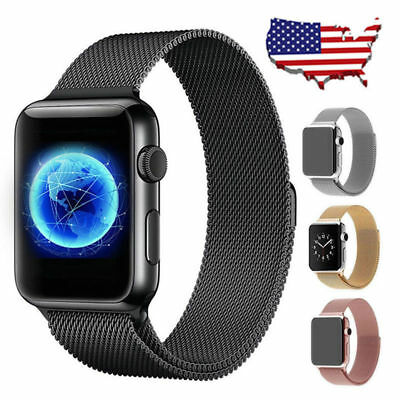 For Apple Watch 4 3 2 Milanese Stainless Steel iWatch Band Strap 40/44MM 38/42mm