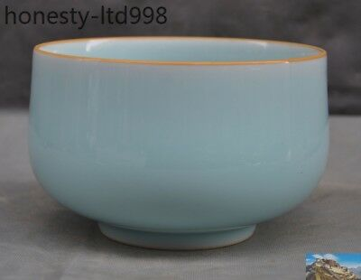 "6"" Antique Chinese Dynasty ru kiln old porcelain glaze Ancient Bowl Cup Bowls"