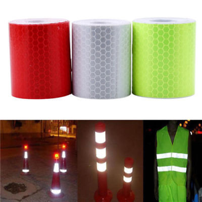 1Pc Car Reflective Strips Stickers Warning Strip-style Adornments Practical PF