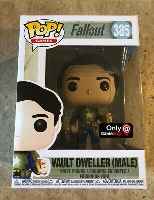 Funko POP! Games Exclusive Fallout Vault Dweller With Mentats (Male) #385 NEW
