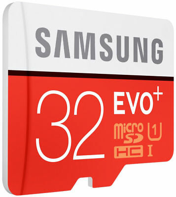 Samsung EVO+ 32GB 80MB/s Class 10 Micro SD SDXC Speicherkart with Adapter BE