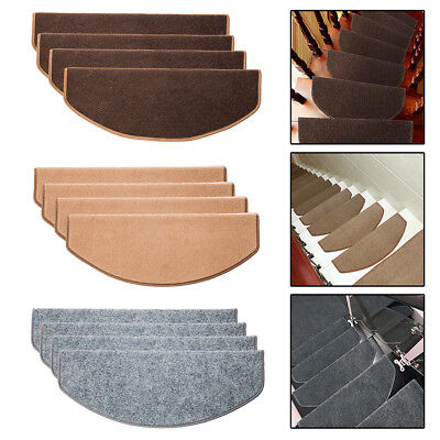 13PCS Stair Tread Carpet Mats Step Staircase Non Slip Mat Protection Cover Pads