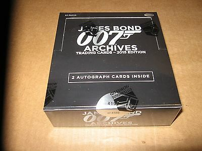 2015 James Bond Archives trading cards Box With 2 Autographs Per Box Rittenhouse