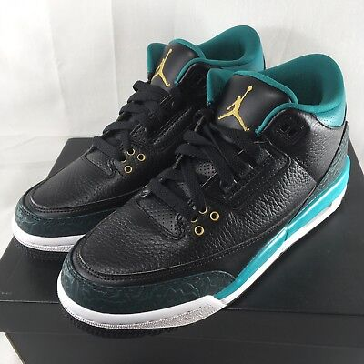 reputable site 7356c ff0d0 Youth Nike AIR JORDAN 3 RETRO GG Shoes Size 6.5Y - 7Y New  140 Teal
