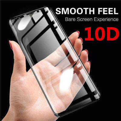 10D Full Cover For Samsung Note 9 A6 A8 J3 Real Tempered Glass Screen Protector