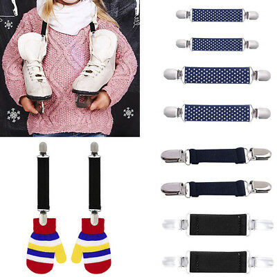 1Pair Kids Mitten Clips Elastic Glove Hats Clamp Link Holder Anti Skid Harnesses