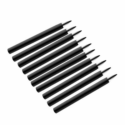 10pcs 60W Solid Round Shank Lead-free Bit Solder Pointed Iron Tip Welding Too DU