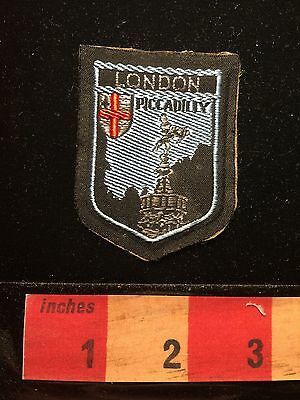 As-is Vtg PICADILLY LONDON England UK Souvenir Patch United Kingdom C658