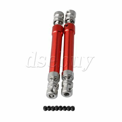 2PCS 11cm Universal Drive Dogbone for AXIAL Wrangler Wraith RC1:10 Car Red