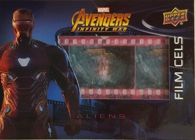 Marvel Avengers Infinity War FILM CELS Card FC18 ALIENS 2018 Upperdeck Iron Man