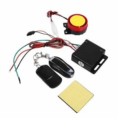 Motorcycle Bike Keyless Anti-theft Security Alarm System Remote Control 12V KIT