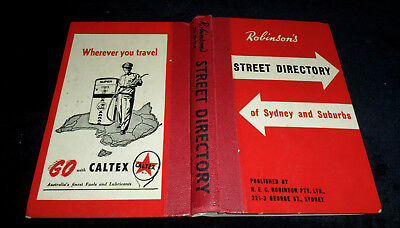 Vintage ~  Robinson's  STREET DIRECTORY of Sydney and Suburbs
