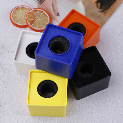 ABS Square cube shaped interview KTV mic microphone logo flag station hot 1pcY5