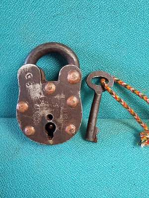 Old Antique Solid Heavy Strong Iron/brass Handcrafted Pad Lock,collectible 3626