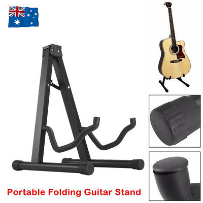 Portable Folding Guitar Stand Electric Acoustic Bass GIG Floor Rack Holder AU