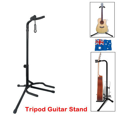 Portable Folding Electric Acoustic Bass Guitar Stand B Frame Floor Rack Holder