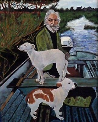Dog from goodfellas Handmade Oil Painting on Canvas art Decor 24x32 INCH