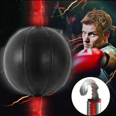 Double End Boxing Speed Ball Punching Bag Dodge Gym Training Black Pu Leatherk6