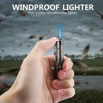 Windproof Refillable Lighter Butane Inflatable Torch Fuel Jet Flame NO Fuel
