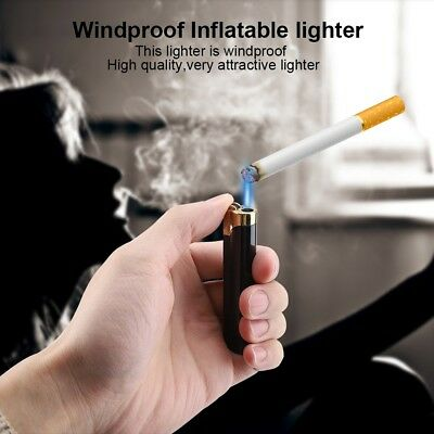 Windproof Refillable Lighter Butane Inflatable Torch Fuel Jet Flame Without Fuel
