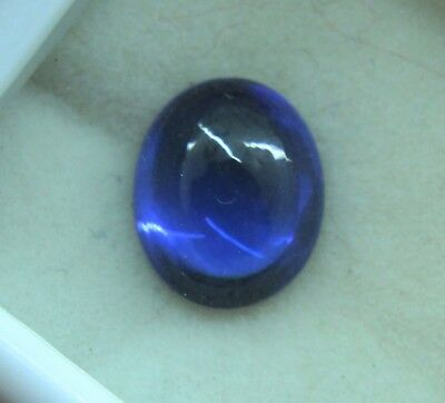 4.30 Ct Natural Blue Sapphire Ring Size Ceylon Cabochon Shape Ggl Certified