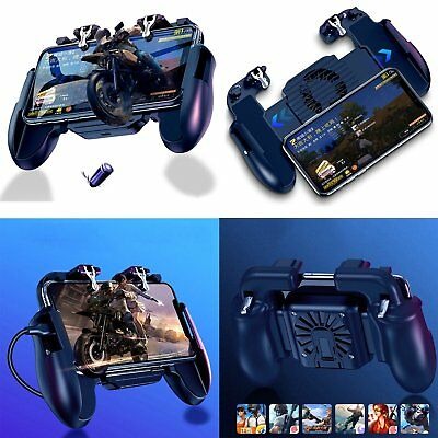 Phone Gamepad Controller Joystick Holder Cooling Fan for iOS Android PUBG Mobile