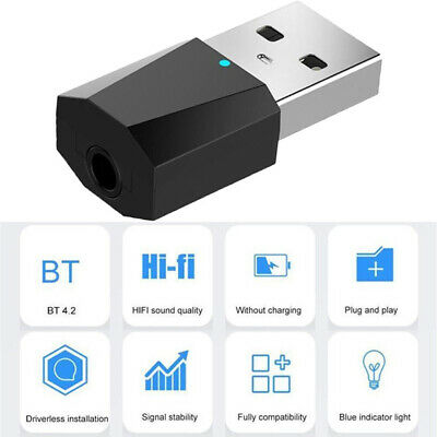 USB Bluetooth 4.2 Wireless Audio Music Stereo Adapter Dongle Receiver for TV-PC