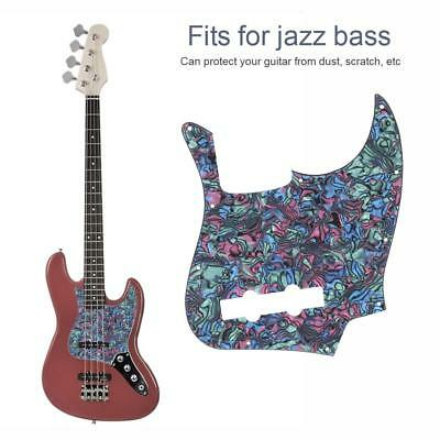 Abalone Style Pickguard Scratch Plate 10 Holes Replacement for Jazz Bass J-Bass