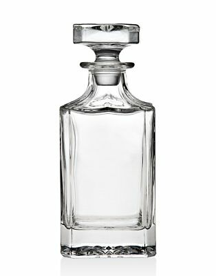 Godinger Silver Art Clarion Square Non-leaded Crystal Whiskey Decanter With