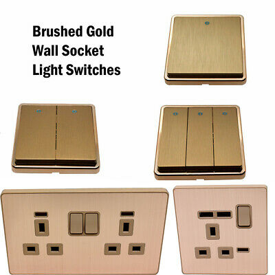 Single/Double DECORATIVE SOCKETS& LIGHT SWITCHES -13amp UK PLUG with/without USB