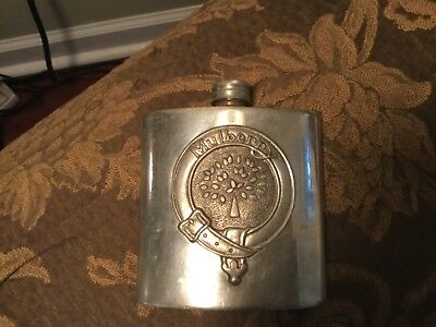 Mulberry (Scotland) 4Oz. Sheffield England Pewter Flask