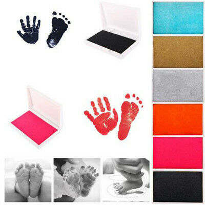 Baby Newborn Footprint Imprint Touch Ink Photo Handprints Clean Pad Frame Kit UK