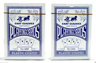 2 Quality Pro Cart Plastic Coated Playing Cards Poker Size Sealed Deck
